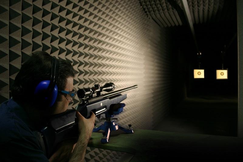 Mousse acoustique stand de tirs